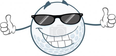 Golf Ball With Sunglasses
