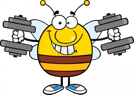 Bee Training With Dumbbells