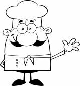 Little Chef Character Waving