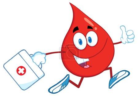 Blood Drop With A Medicine Bag