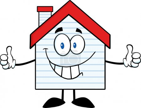 Smiling House Character