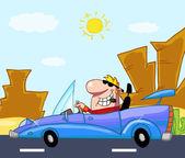 Rich Man Drives Convertible