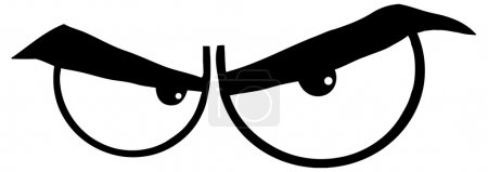 Illustration pour Dessin animé en colère Yeux illustration de personnage - image libre de droit