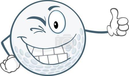 Winking Golf Ball