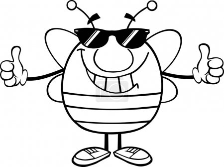 Pudgy Bee With Sunglasses