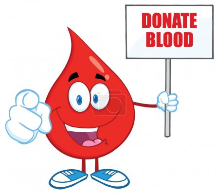 Blood Drop with Blank Sign
