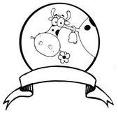 Cartoon Logo Mascot - Farm Cow