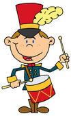 Happy Drummer Drumming