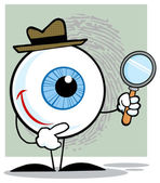 Detective Eyeball with  Magnifying Glass