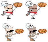 Kuchaři, prezentující jeho Pizza