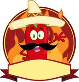 Mexican Chili Pepper Cartoon Mascot Logo