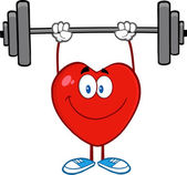 Heart Character Lifting Weights