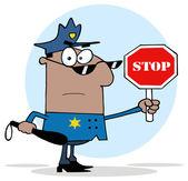cartoon african american sheriff