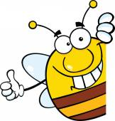 Pudgy Bee with Thumb Up