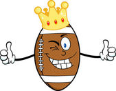 American Football Ball  with Crown