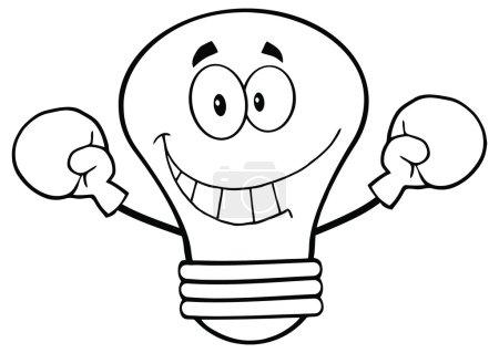 Light Bulb Wearing Boxing Gloves.