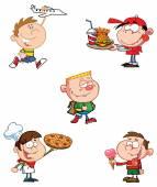 Happy Kids Cartoon Characters