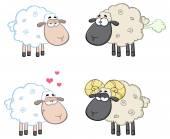 Kreslený ovce sada