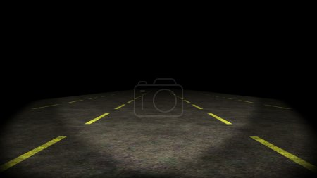 Photo for Car moving through lost highway - Royalty Free Image