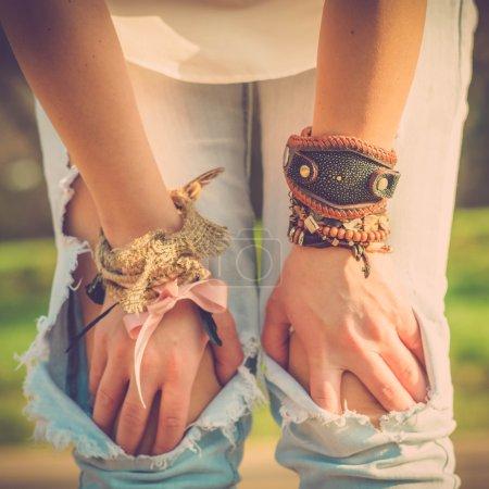 Boho style girl