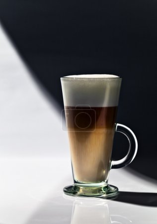 Coffee latte on a table in bar
