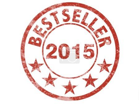 Photo pour Timbre de grunge pour Best-seller 2015 - image libre de droit
