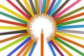 Barevné pastelky Ukázat úspěch s grafem, podnikání