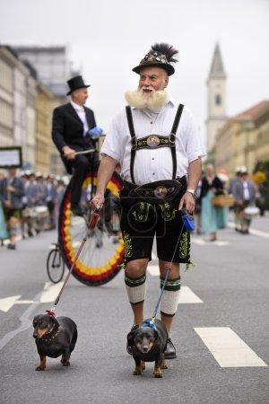 Opening parade of Oktoberfest in Munich