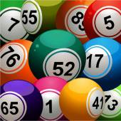 Bingo balls close up background