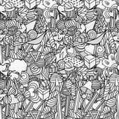 Cute doodle seamless pattern Love and sweets