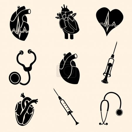 Heart doctor vector icon