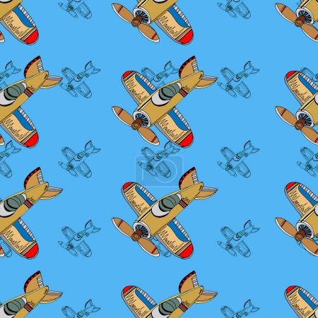 Airplanes background.