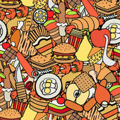 food and sweets seamless pattern