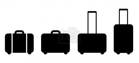 Set of suitcase icon...