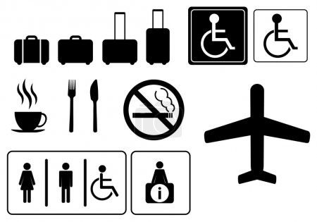 Illustration for Travel icons,  vector eps 10 - Royalty Free Image