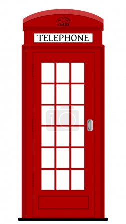 London phone box , vector illustration
