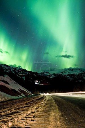 Photo pour Magnifiques aurores boréales, Canada - image libre de droit