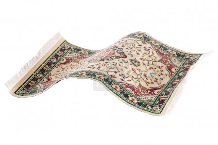 Flying magic carpet isolated