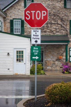 Parking signs in Amish country, Lancaster, PA.