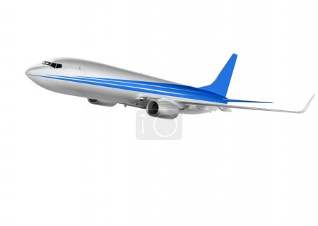 cargo plane on white background