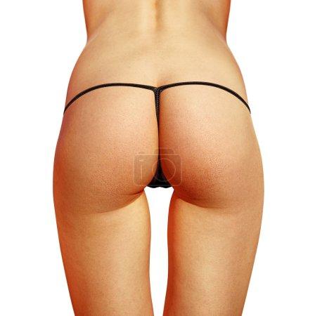 buttocks with bikini on white