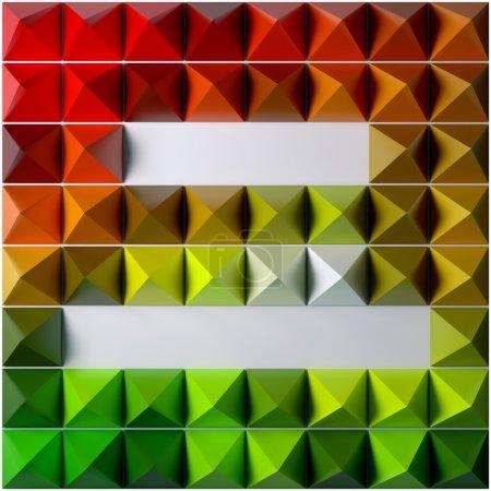 Photo pour Pyramide comme fond abstrait. Modèle rendu 3D . - image libre de droit