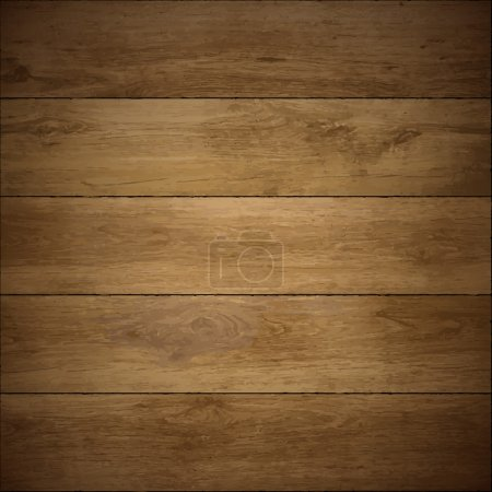 Illustration for Wood texture. Vector wooden floor. - Royalty Free Image