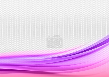 Illustration for Abstract purple background with grey hexagon. - Royalty Free Image