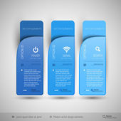 Vector tabs as design elements for business layouts