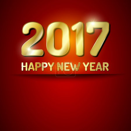 Happy New Year 2017 greetings card