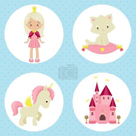 Princess icons set