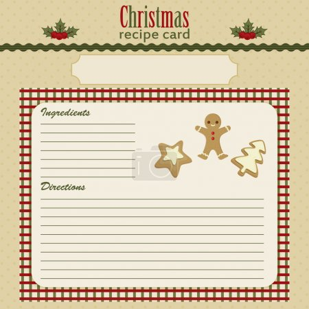 Christmas baking festive recipe card