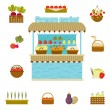 Vector farmers market icons...