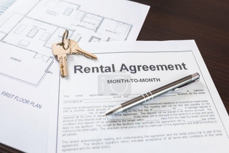 Photo for Rental agreement contract to sign - Royalty Free Image